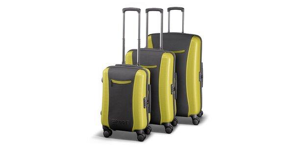 Šedozelená sada tří kufrů Esprit