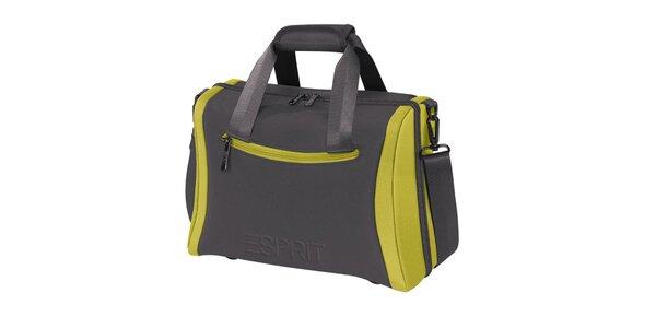 Šedo-zelený kosmetický kufřík Esprit