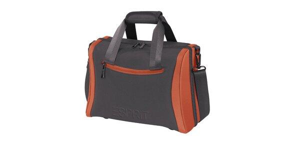 Šedo-oranžový kosmetický kufřík Esprit