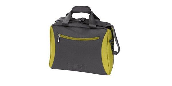 Šedo-zelený příruční kufr Esprit
