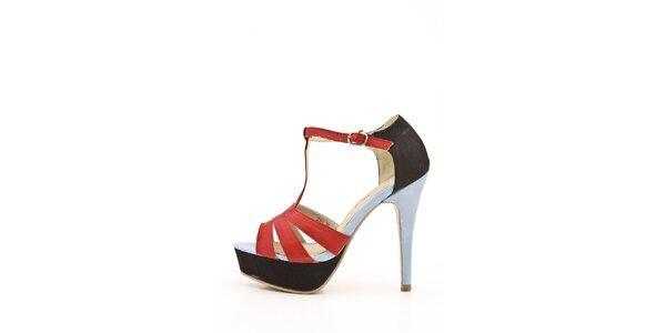 Dámské červeno-černé sandálky Boaime