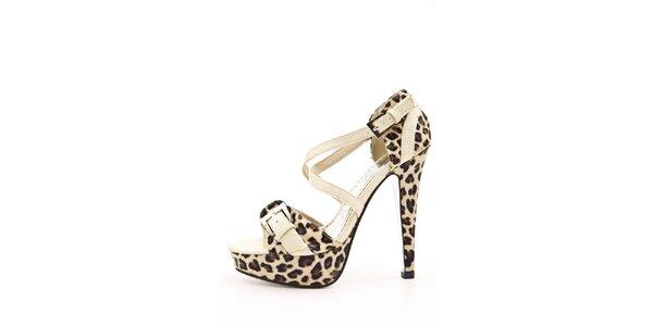 Dámské béžové sandálky se zvířecím vzorem Boaime