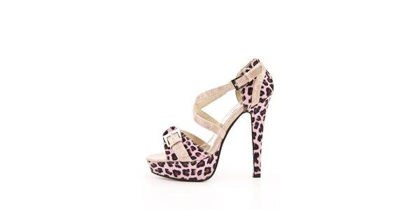 Dámské růžové sandálky se zvířecím vzorem Boaime