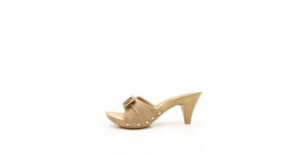 Dámské béžové pantofle Boaime