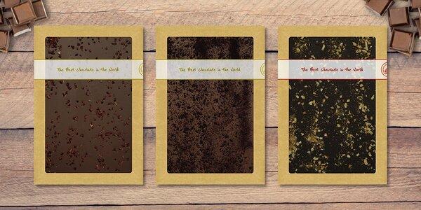 Maxi čokoláda zdobená vybraným posypem