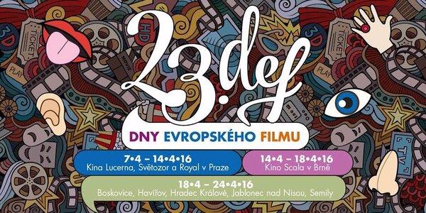 Lístky na film z festivalu Dny evropského filmu