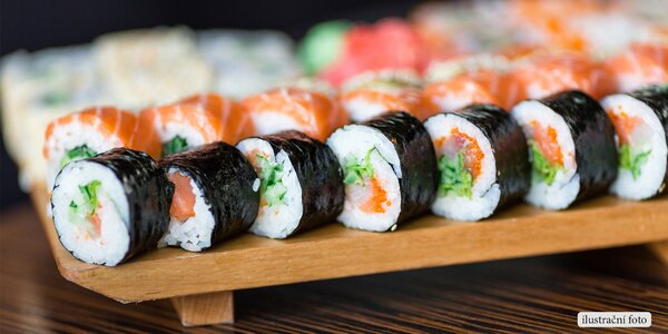 Sushi sety s rozvozem po severní Moravě