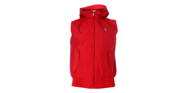 Pánská červená vesta Refrigue s kapucí