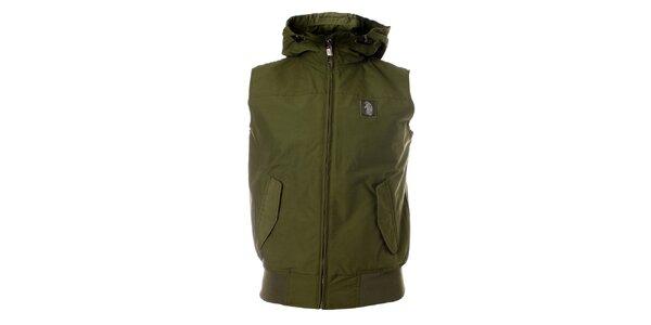 Pánská khaki vesta Refrigue s kapucí
