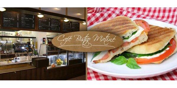 59 Kč za DVA výborné zapečené sendviče Panini v Kroměříži