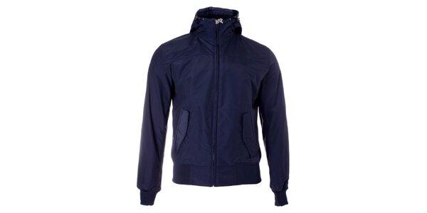Pánská tmavě modrá jarní bunda Refrigue s kapucí