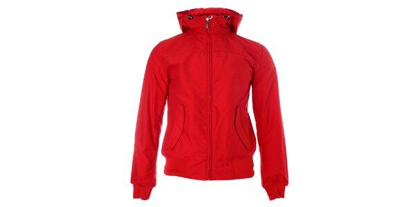 Pánská červená jarní bunda Refrigue s kapucí