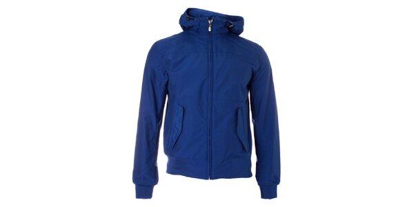 Pánská modrá jarní bunda Refrigue s kapucí