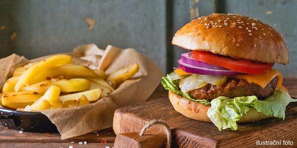 Dva pořádné burgery s přílohou a rozvozem