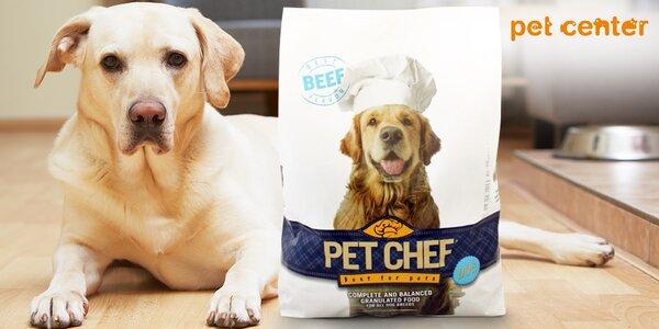 Dva pytle granulí pro psy od Pet Chef