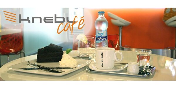 49 Kč za 1x espresso Vin de Cafe, 1x čokoládový dort a 1x Toma Natura.