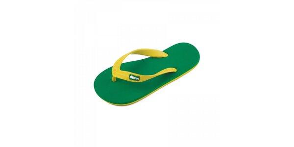Zeleno-žluté žabky Breo
