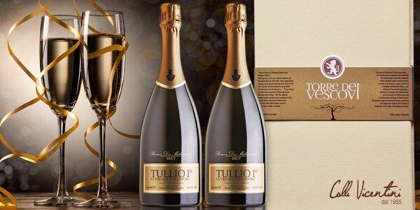 Dvě lahve Prosecca Tullio I° v dárkové krabičce