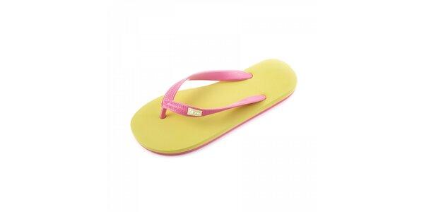 Žluto-růžové žabky Breo