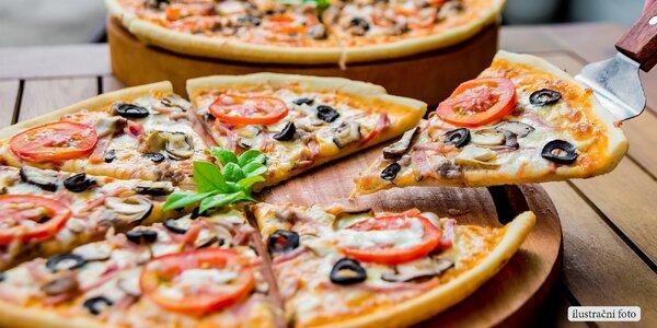 Itálie v centru Brna – dvě pizzy dle výběru