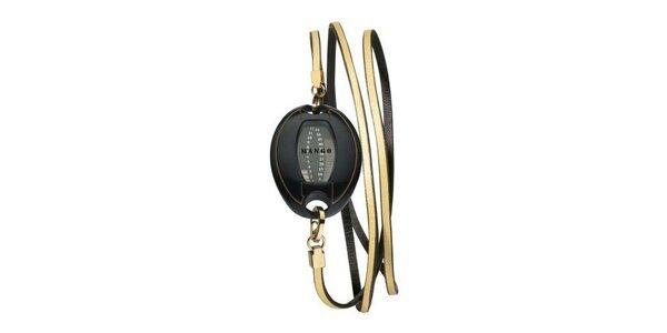Dámske digitální hodinky Mango s černým ciferníkem, PVD povlakem a černým…