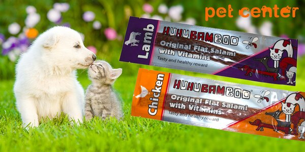 Šmakózní pamlsky Huhubamboo pro psy i kočky