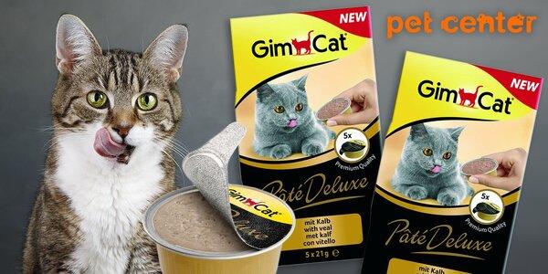 10 jemných paštik Gimcat Paté DeLuxe pro kočky