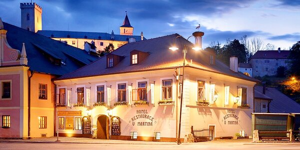 Pohodové wellness s výhledem na zámek Rožmberk