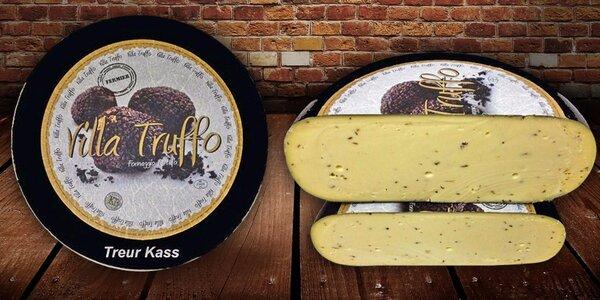 Lahodný sýr gouda s pravými černými lanýži