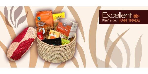 297 Kč za ručně pletený košík plný Fair Trade dobrot se slevou 50 %