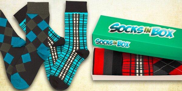Sada kvalitních barevných ponožek SocksInBox