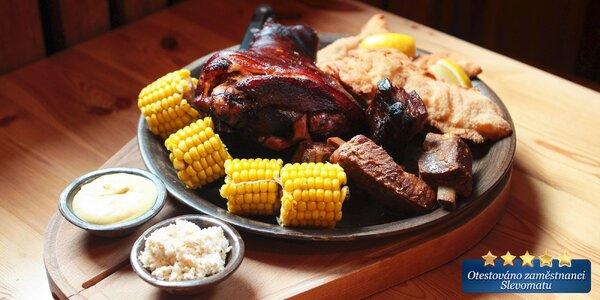 Masová hostina pro 4 jedlíky v Dobré trefě