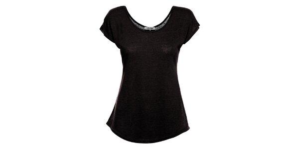 Dámské černé tričko Holly Kate s mašličkami