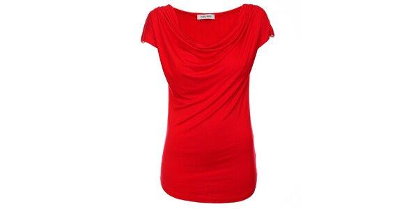 Dámský červený top Holly Kate s řasením