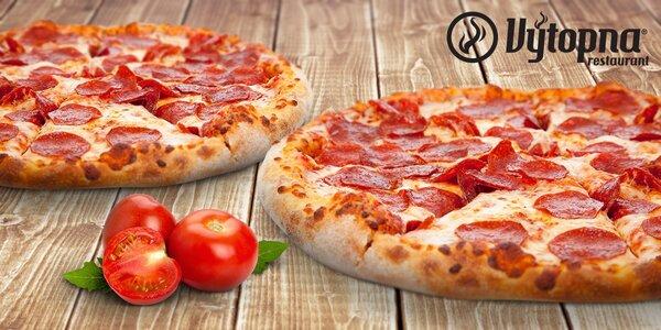 2 pizzy ve Výtopně a 3 dětské lístky na zábavu