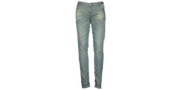 Dámské světle modré džíny se zipy na nohavicích Roxy
