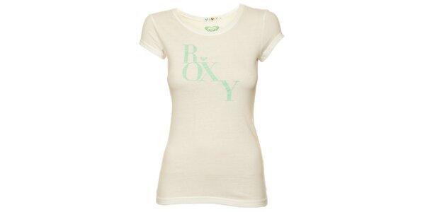 Dámské bílé tričko s mátovým potiskem Roxy