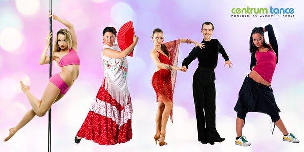 11 tanečních nebo fitness lekcí v Centru Tance
