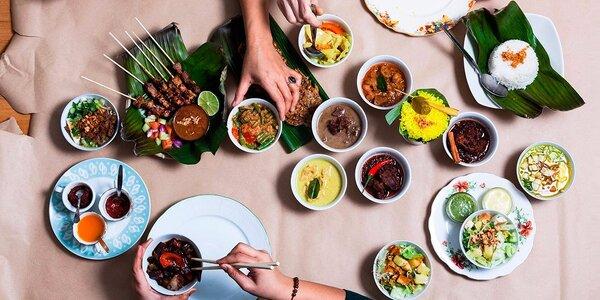 Indonéská hostina ve Fusion bistru Javánka