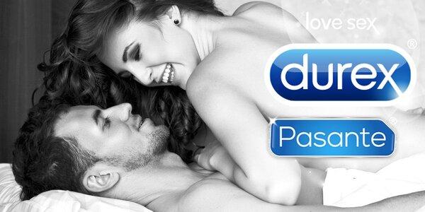 Balíčky nabité kondomy Durex, Primeros, Pasante