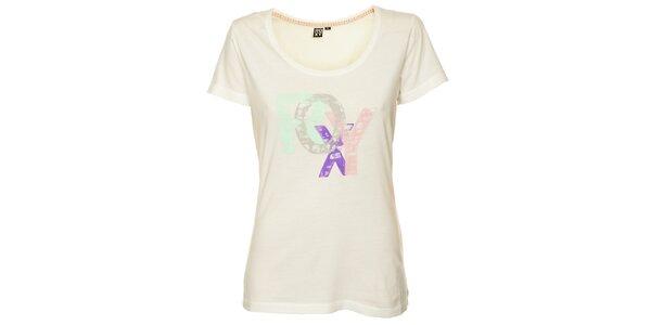 Dámské bílé tričko s potiskem Roxy