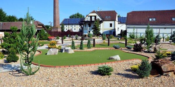 Zábavný hodinový Adventure golf pro celou rodinu