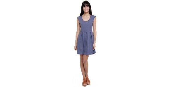 Dámské šaty se sklady Kool v holubí modré