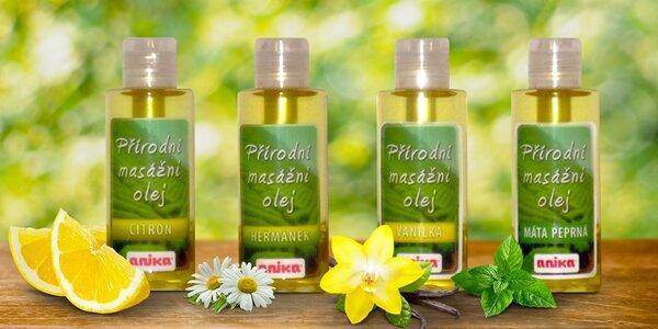 Přírodní oleje na masáž i do koupele