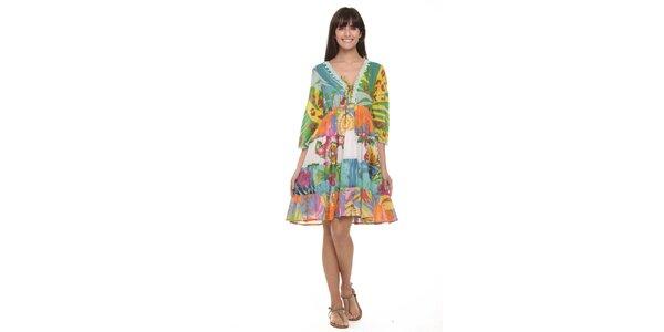 Dámské šaty s tropickým vzorem Kool