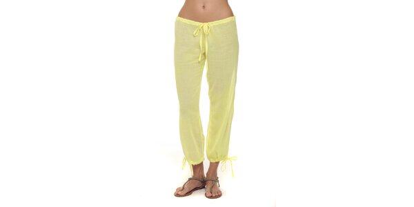 Dámské vanilkové kalhoty s mašličkami Kool