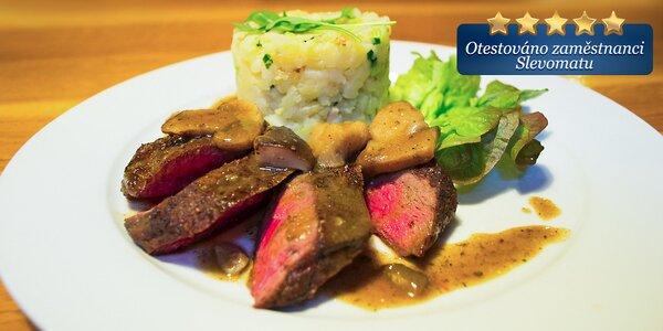 Šťavnaté steakové menu pro dva