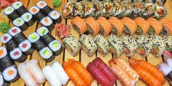 Pestré sushi sety v King Sheng
