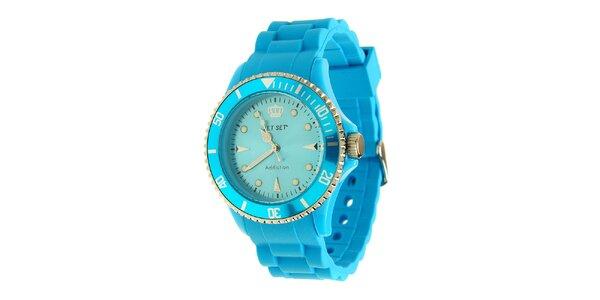 Dámské azurově modré hodinky Jet Set