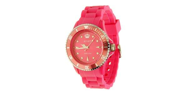 Dámské sytě růžové hodinky Jet Set